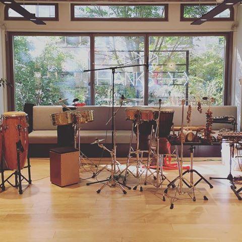 パーカッションのデュオ、今日のセットはこんな感じです♪#snidel #percussion #パーカッション #snidelparkproject