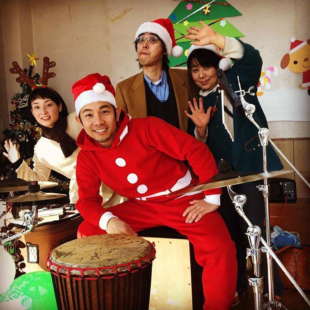 今日はこの4人でクリスマスコンサートやってきました♪@つくば稲岡保育園#ジャンベ #パーカッション #percussion #つくば #tsukuba