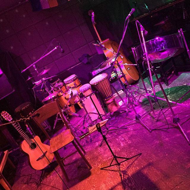 今日はつくばFrogにてザ・ハンチングwith遊唄です♪#percussion #steelpan #guitar