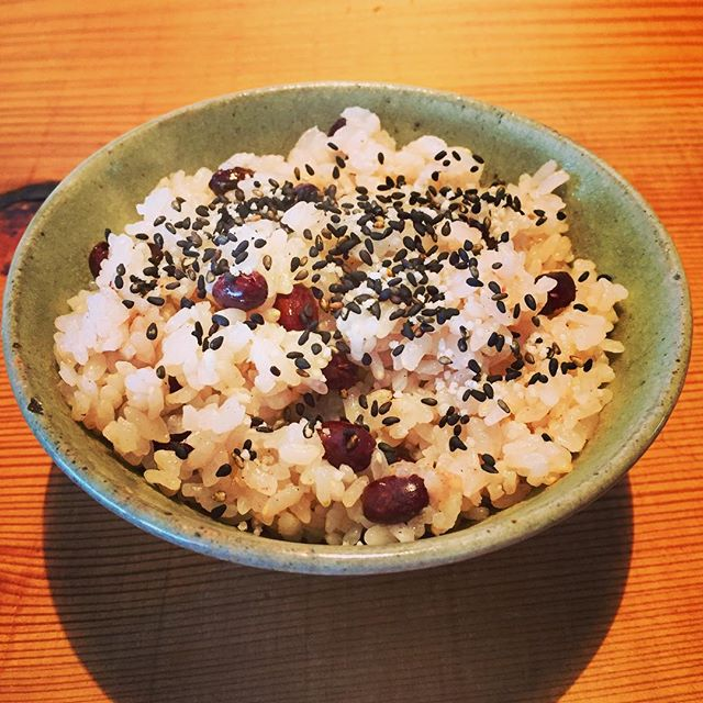 my favorite !#breakfast #japanesefood #rice #赤飯