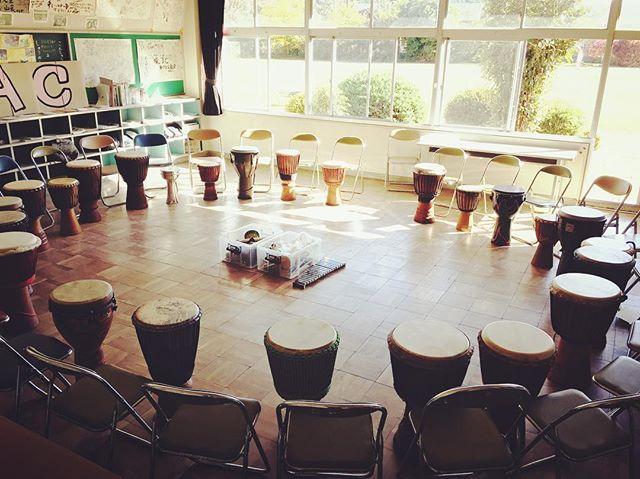 Ready!!#djembe #percussion #drumcircle #ジャンベ #ドラムサークル #常陸大宮 #旧盛金小学校
