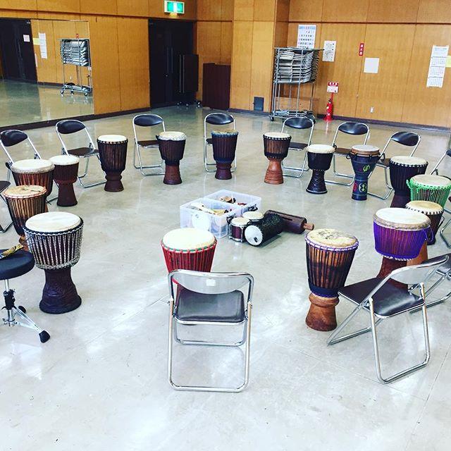 今日は月イチ恒例のドラムサークルつくば@竹園交流センター!#percussion #djembe #tsukuba #drumming #drumcircle #つくば #茨城