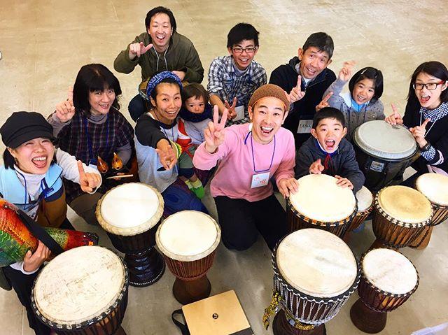 今日のドラムサークルもバッチリ盛り上がりました♪集合写真のみんなの笑顔、嬉しいなご来場頂いた皆様、ありがとうございました〜!!次回は1/7(日)10:30〜@つくば市竹園交流センター、お待ちしています!...#drumcircle #ドラムサークル #djembe #ジャンベ #ibaraki #tsukuba #茨城 #つくば #drumming #smile #遊唄